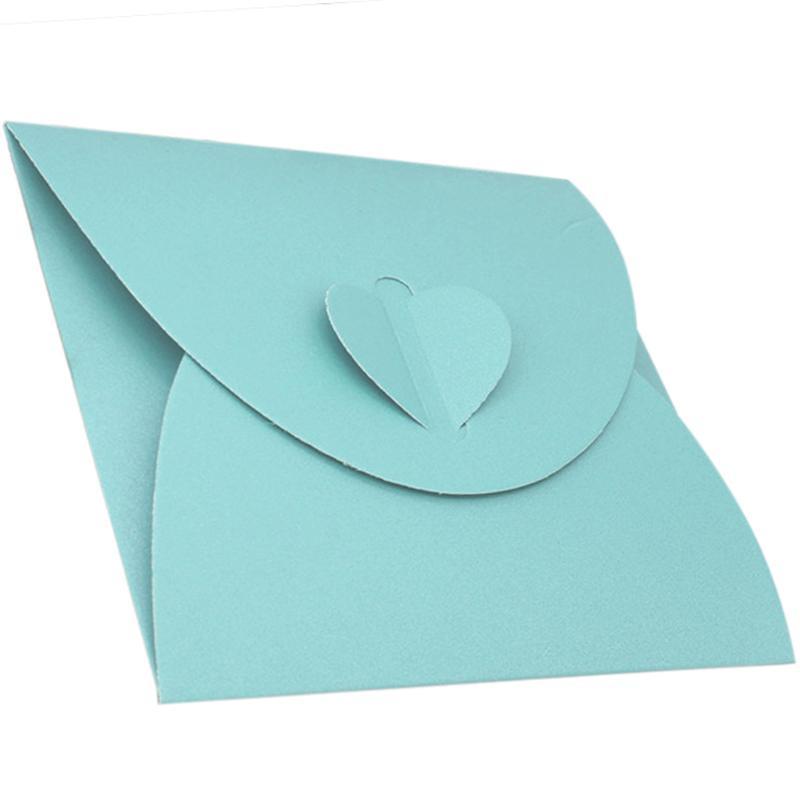 AAY-50Pcs Крафт бумага Конверт мешок персик сердце ЦЕЛЬНЫЙ Loaded Западного стиль Ретро стиль пакет