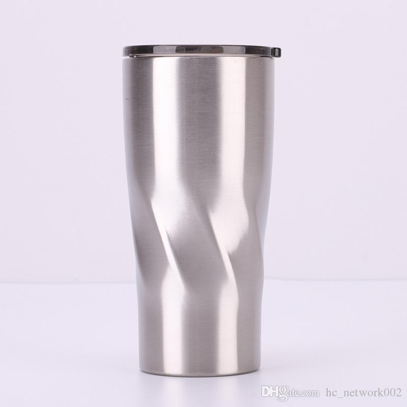Creative Design Stainless Steel Tumbler Curving Tumbler Spiral shape Double Wall Vacuum Insulated Coffee Mug Cup for cold and hot drinks