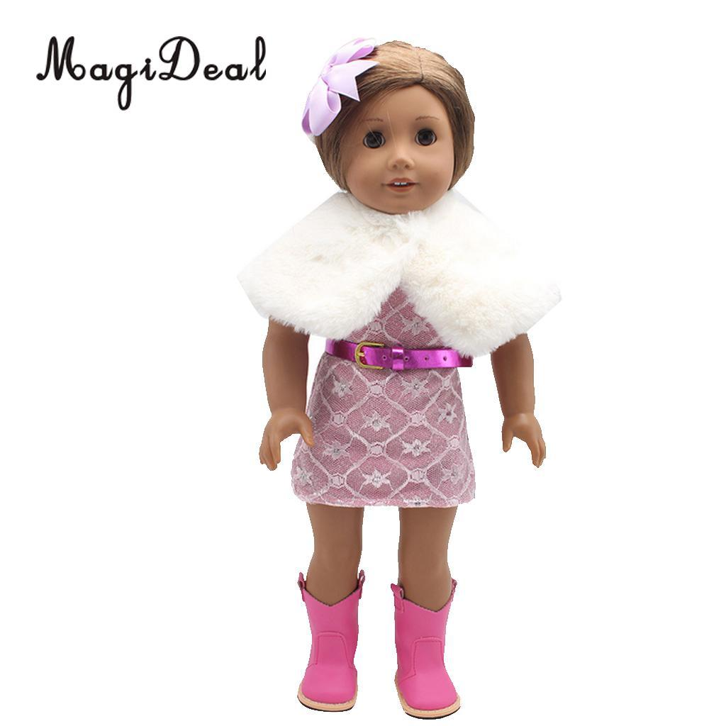 Doll Outfit Clothes Dresses Suit For 45cm 18-inch BJD SD AG American Doll