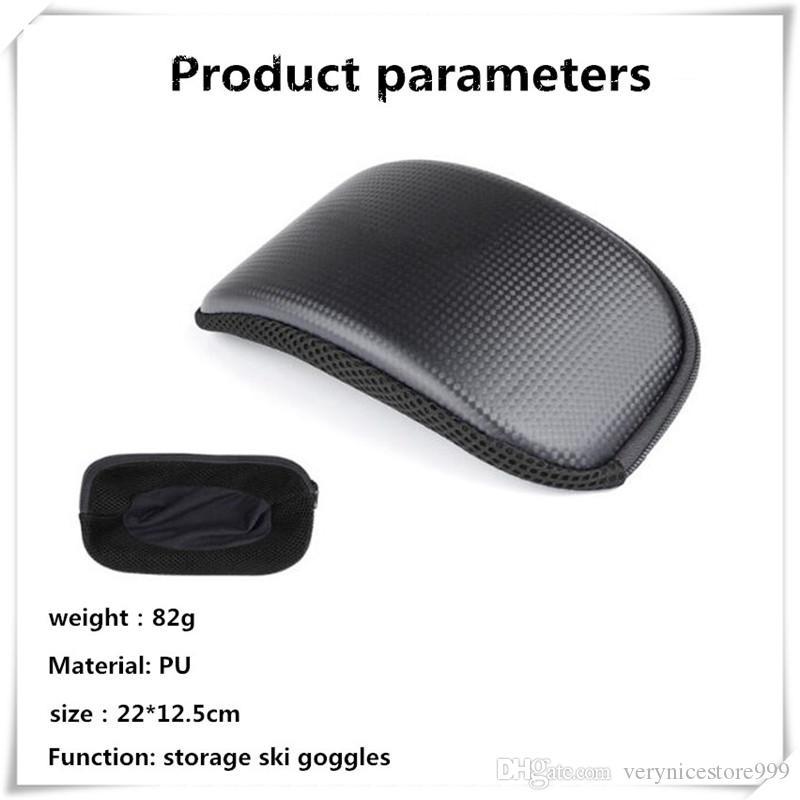 Portable Ski Snow Goggle Protector Case Étui pour lunettes de ski Ski Glasses Light Pouch Lunettes de patinage Zipper Box