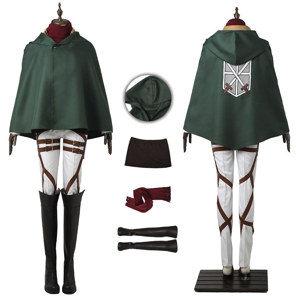 Mikasa Ackerman Costume Attack on Titan Cosplay High Quality Full Set