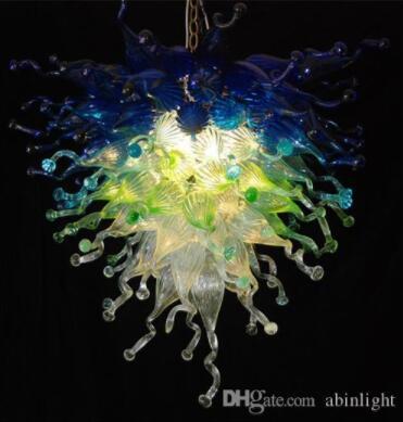 Marroquí soplado hecho a mano de color lámpara de cristal Estilo Decoración Araña