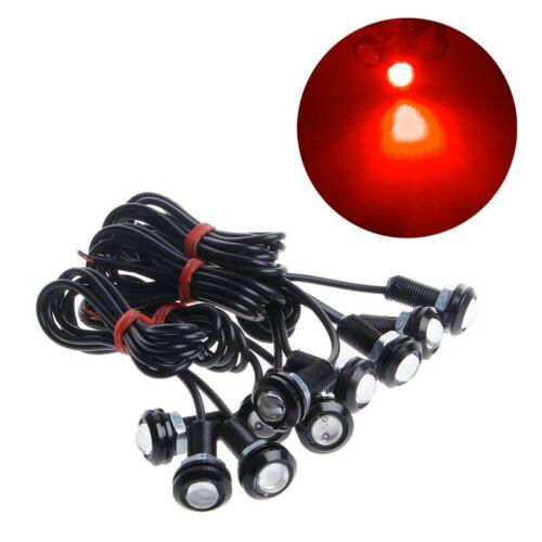 Sis DRL Gündüz Ters Park Sinyali Running 10pcs Araç Oto 18mm 110LM DC12V Kartal Göz LED Işıklar Lamba Ampul Gündüz