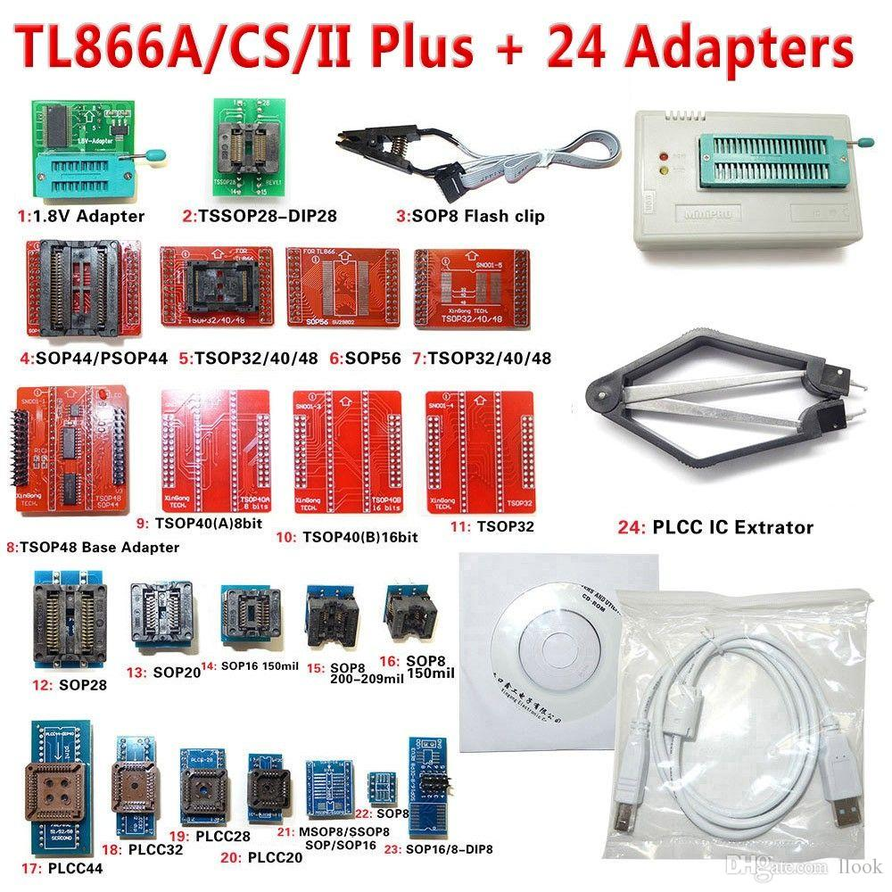 Бесплатная Доставка В8.11 TL866ii плюс TL866CS TL866A Minipro программатор + 24 адаптеры ЭСППЗУ пик AVR-памяти NAND BIOS программист микроконтроллеров БИОС ЭПРОМ
