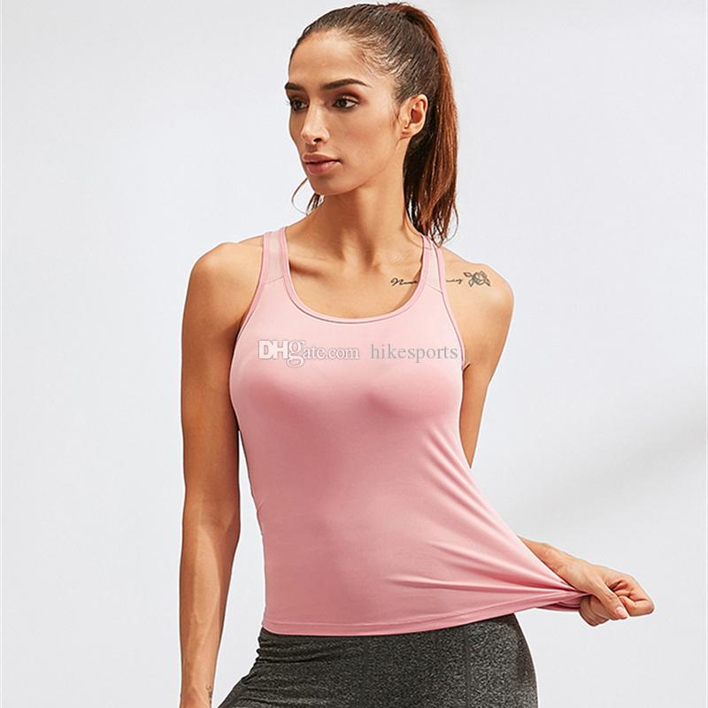 Womens Sports Yoga Vest Fitness Gym Running Riding Singlet Back Cut Out Tank Tops Fast Dry Mesh Sleeveless U Neck Elastic Tights Sweatshirt