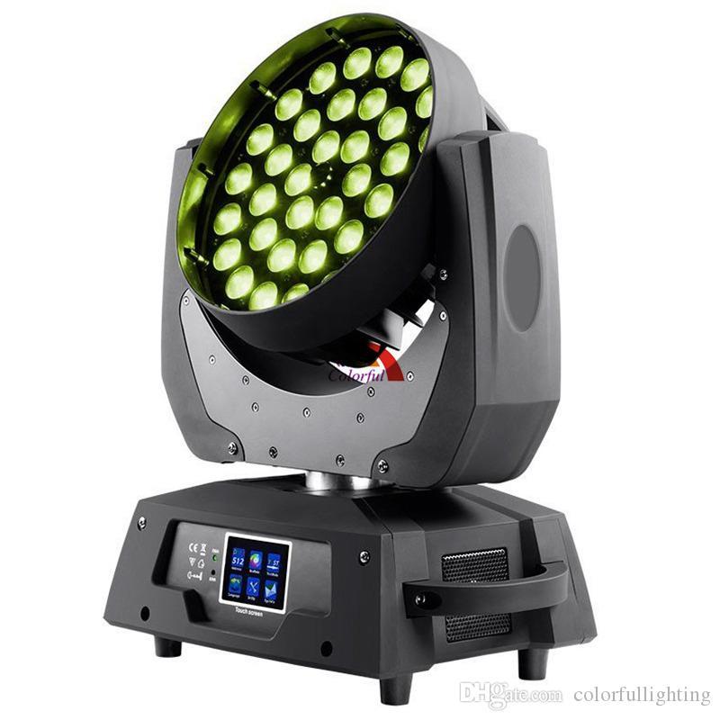 Ücretsiz nakliye Yüksek kaliteli 36X18W RGBWA UV 6 in 1 Zoom Baş Wash Hareketli LED