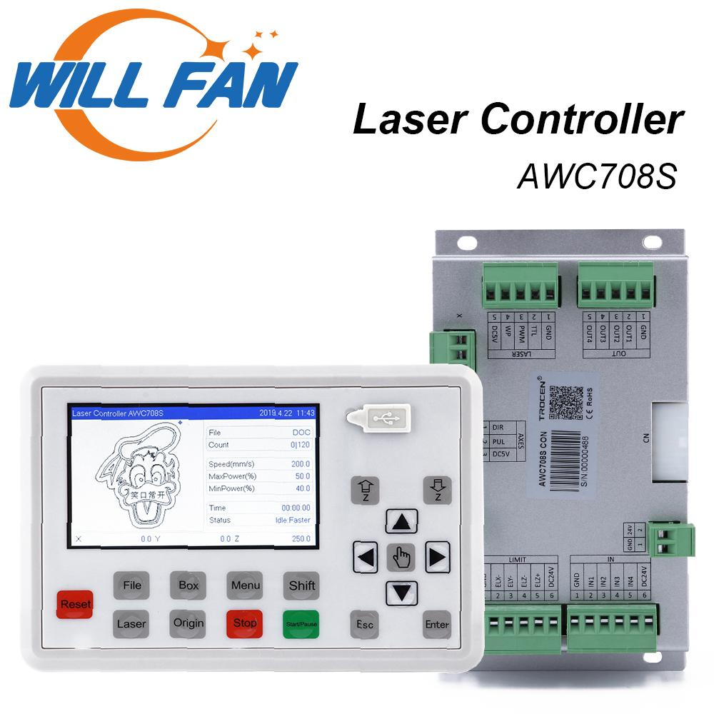 AWC708S laser control system for Co2 laser engrave cut machine .laser mainboard and Controller For Carbon Dioxide Laser