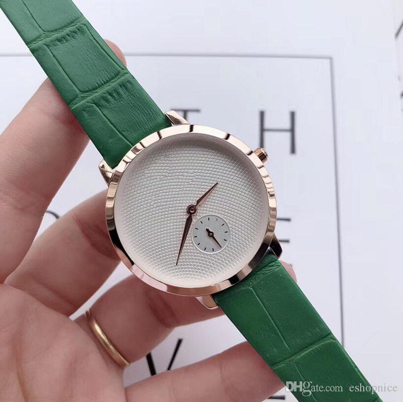montres de mode Top hommes Bracelet en cuir 316 acier 40 mm Cadran petit cadran fonctionne montre à quartz pour hommes montres-bracelets reloj de Lujo