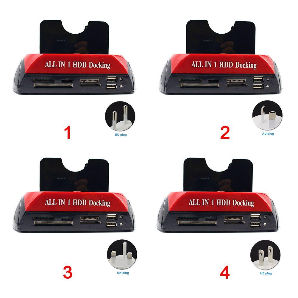 IDE \ SATA 하드 드라이브를위한 다 카드 판독기 구멍 홀더를 가진 1 개의 기본적인 HDD 도킹 HDD 울안 역에서 USB 3.0 전부