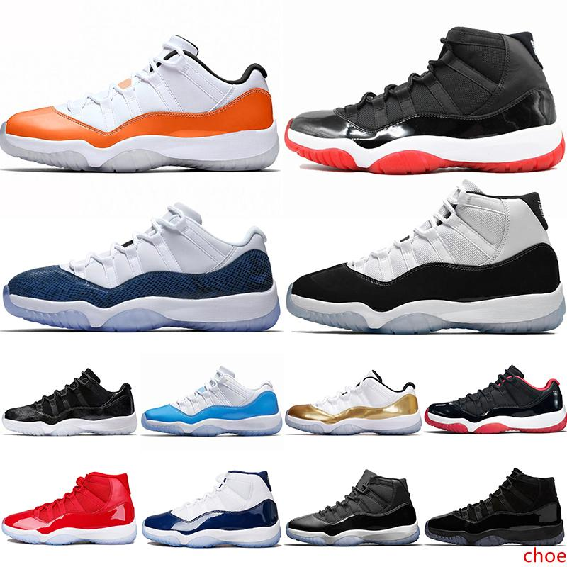 11 11s Homens tênis de basquete 2019 New Concord Platinum Tint Designer Sneakers Cap XI e vestido Bred Shoes Space Jam Mulheres Esportes 36-47