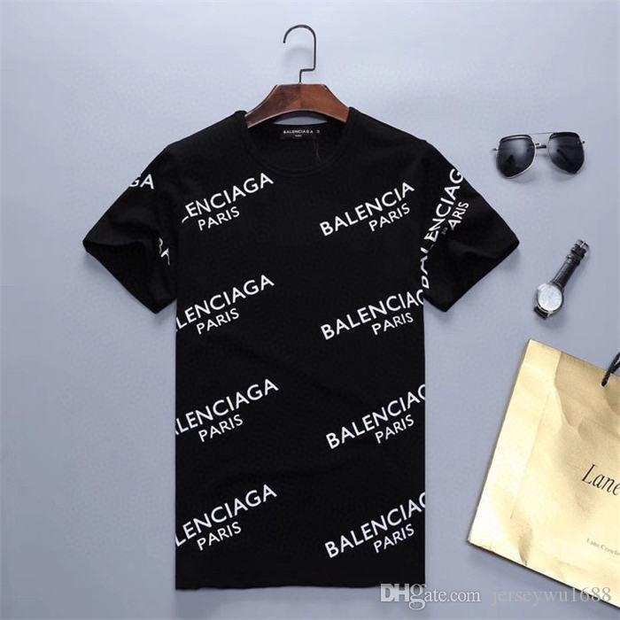 2020SS courtes T-shirt col rond imprimer lettre T-shirt design hommes luxe manches noir hommes de mode blanc et les femmes tee de haute qualité T-shirt