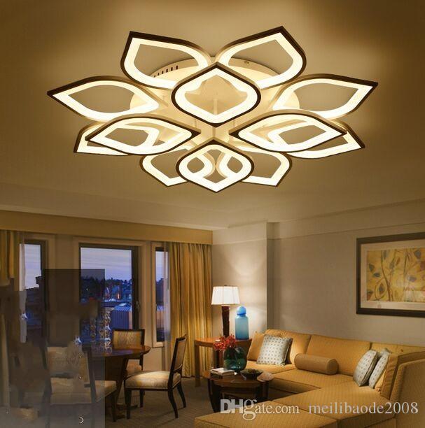 Nuevas luces de la lámpara de techo de acrílico llevados modernos para sala de estar dormitorio principal Dic lámpara de techo moderna llevaron Fixture MYY
