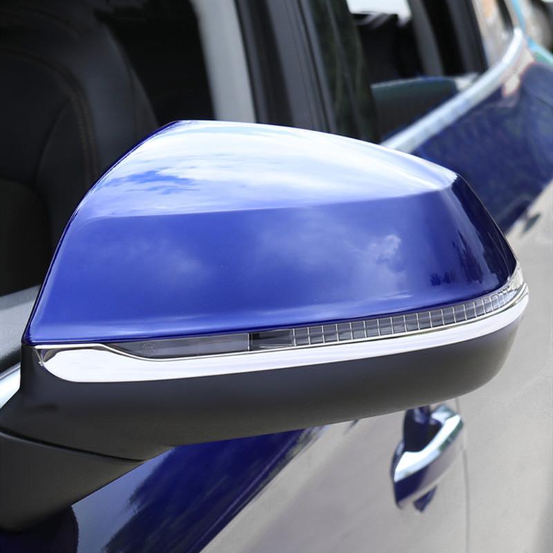 Car Styling Rearview Mirror Stickers décoratifs Garniture bandes pour Audi Q5 FY 2018 Extérieur 2019 en acier inoxydable Accessoires