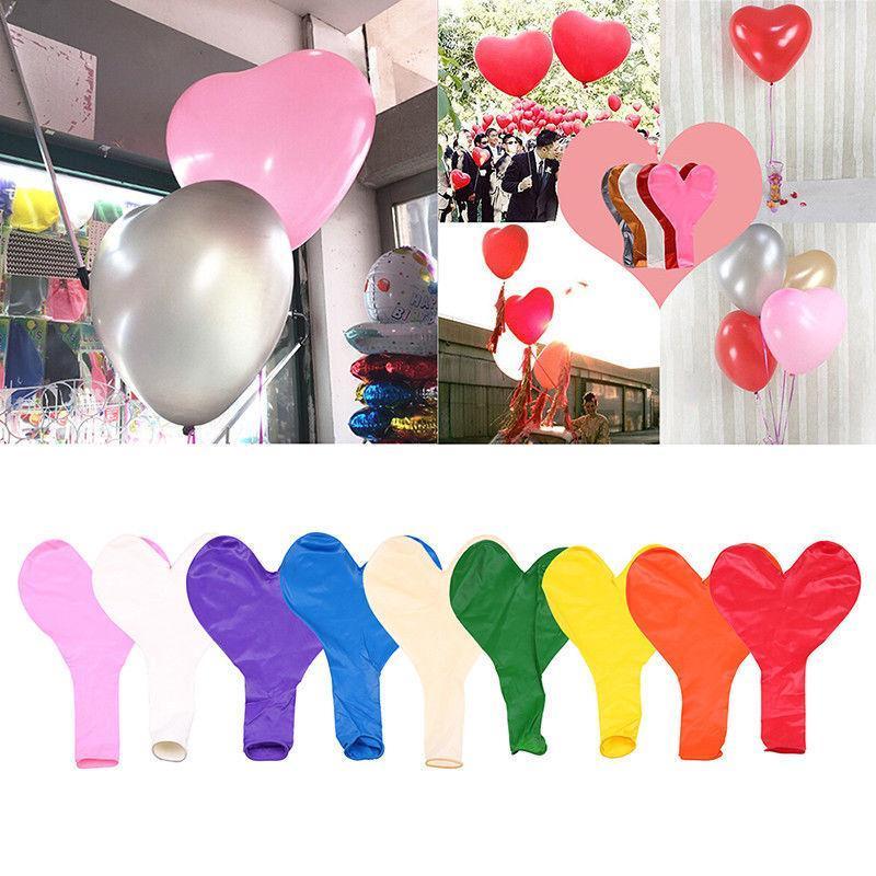36 pouces coeur latex ballon 9 couleurs d'amour en forme de boule Grand Géant Valentine fête de mariage Décoration OA6538