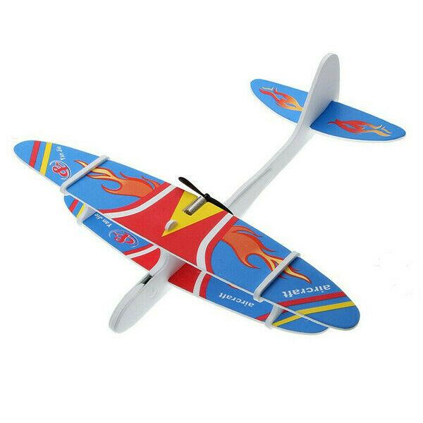 DIY Kids Early Education Toy Rubber Band Powered Glider Plane Ensamble Aviones MTSZZF Powered Glider