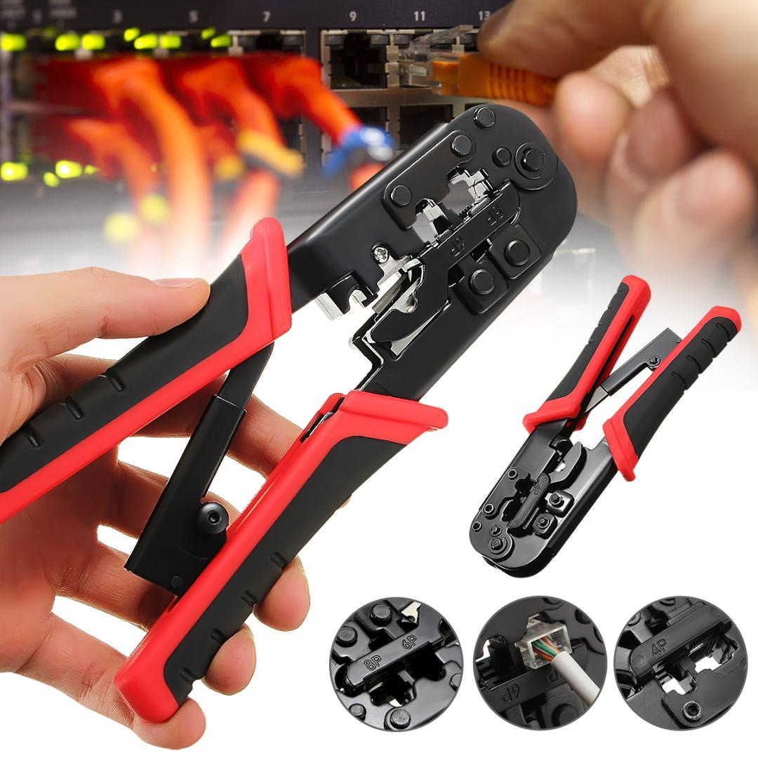 Herramienta de mano Alicates Doersupp 1PC Red Red Ethernet multifuncional alicates prensar el cable de LAN Crimp Tool Crimper cortador