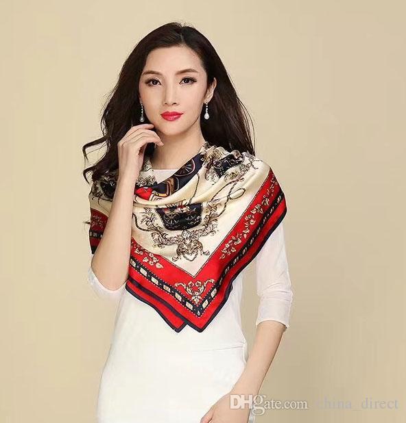 der 90cm der QUADRATISCHEN 100% der realen Maulbeereseidenschal Silk Satin Neckerchiefs-Fabrikverkauf der Mädchenfrauen MISCHTE 10 PC / Los # 4112