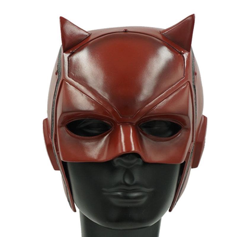 Daredevil Pvc Mask Matt Murdock Cosplay Helmet Upper Red Half Face