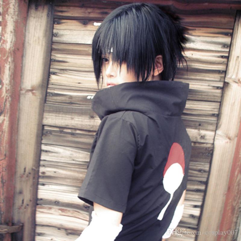 Uchiha Sasuke cosplay disfraces Uchiha Sasuke anime japonés Naruto Shippuden ropa disfraz de disfraces de halloween traje negro