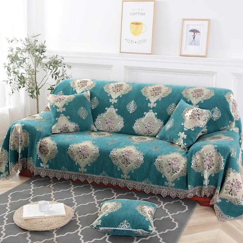 Stupendous European Vintage Style Embroidered Pattern Slipcover Couch Cover And Sofa Towel In Different Sizes Furniture Covers For Sofas White Slipcovers For Theyellowbook Wood Chair Design Ideas Theyellowbookinfo
