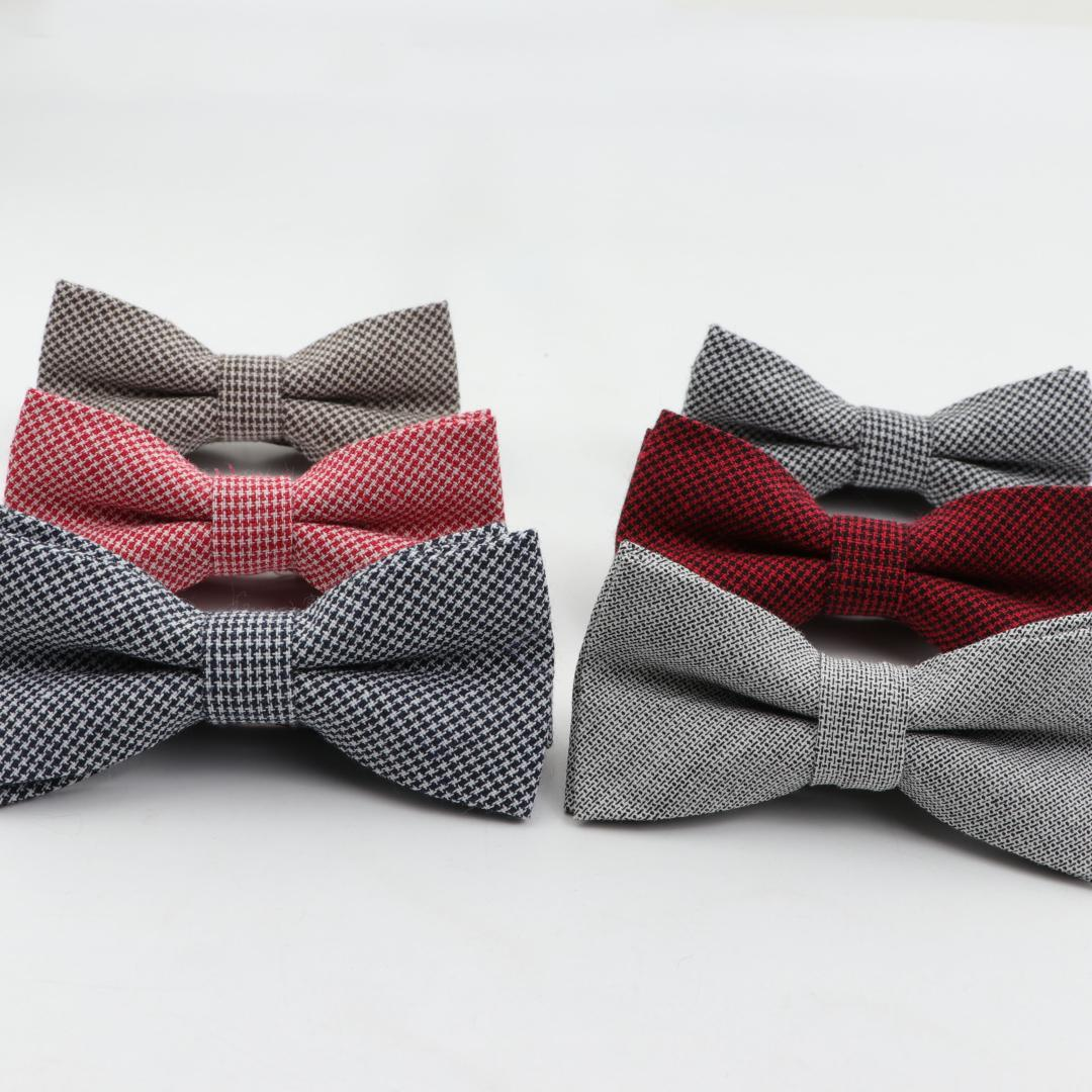 Children Striped Color Bowtie Formal Cotton Bow Tie Kid Classical Solid Bowties Colorful Butterfly Wedding Party Pet Tuxedo