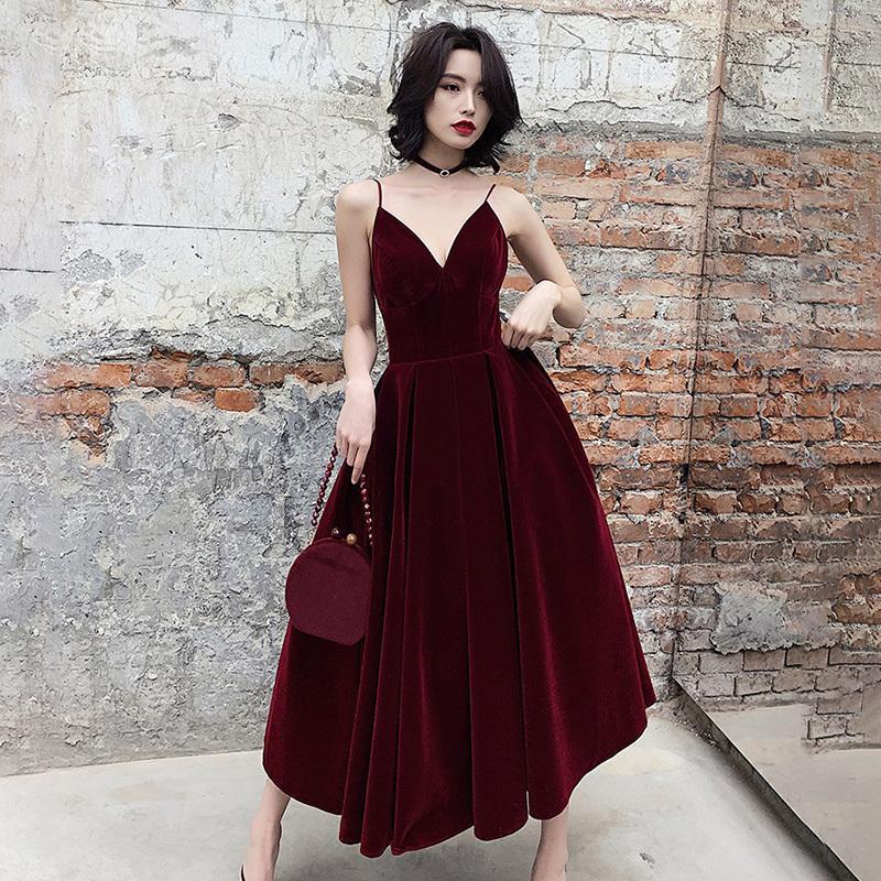 Siyah Kırmızı Seksi Yaz Backless elbise için Kadın V Boyun Spagetti Askı Kolsuz Yüksek Bel Seksi Parti Elbise Kadın 2020 Moda