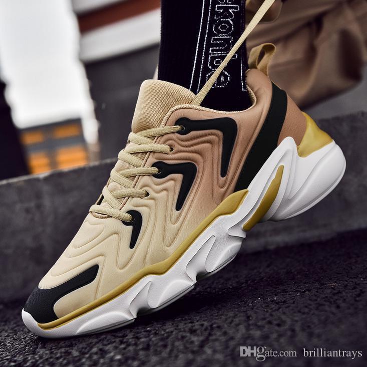 Les best-seller dernières baskets hommes catwalk maille tissée voler chaussures plate-forme de grande hauteur exterieurs respirant chaussures de voyage antidérapants
