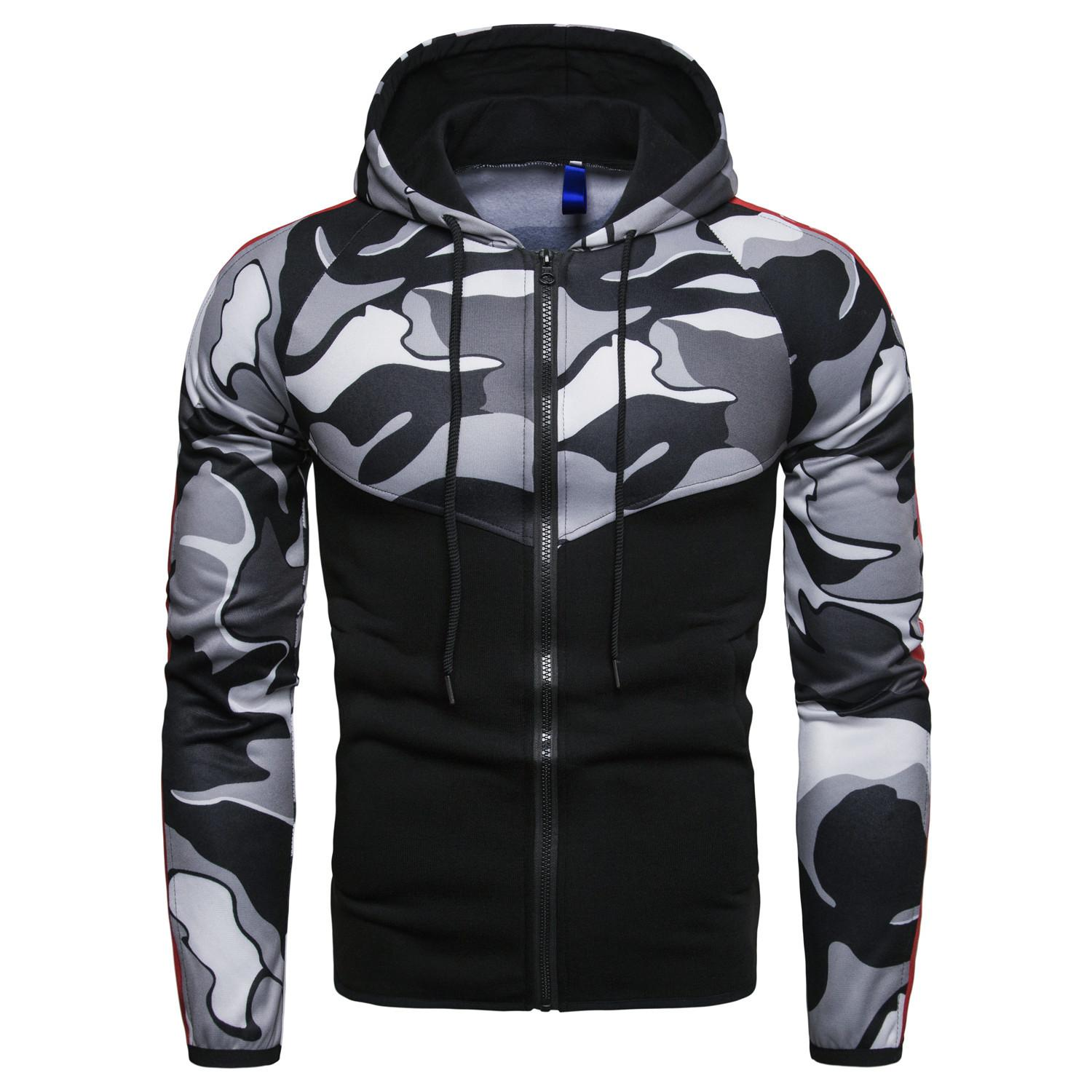 New casual camouflage stitching self-cultivation and cap men's guard clothes
