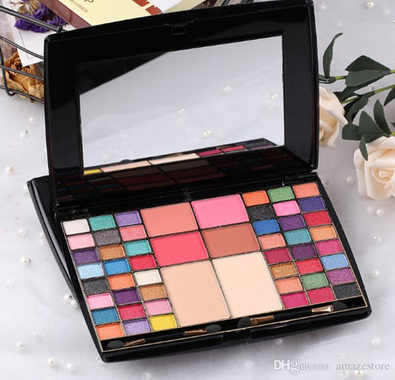 Miss Rose 48 colori Professional Truccatore Professionale Eye Shadow Palette Blusher Compact Powder Matte Glitter con spazzola DHL GRATIS