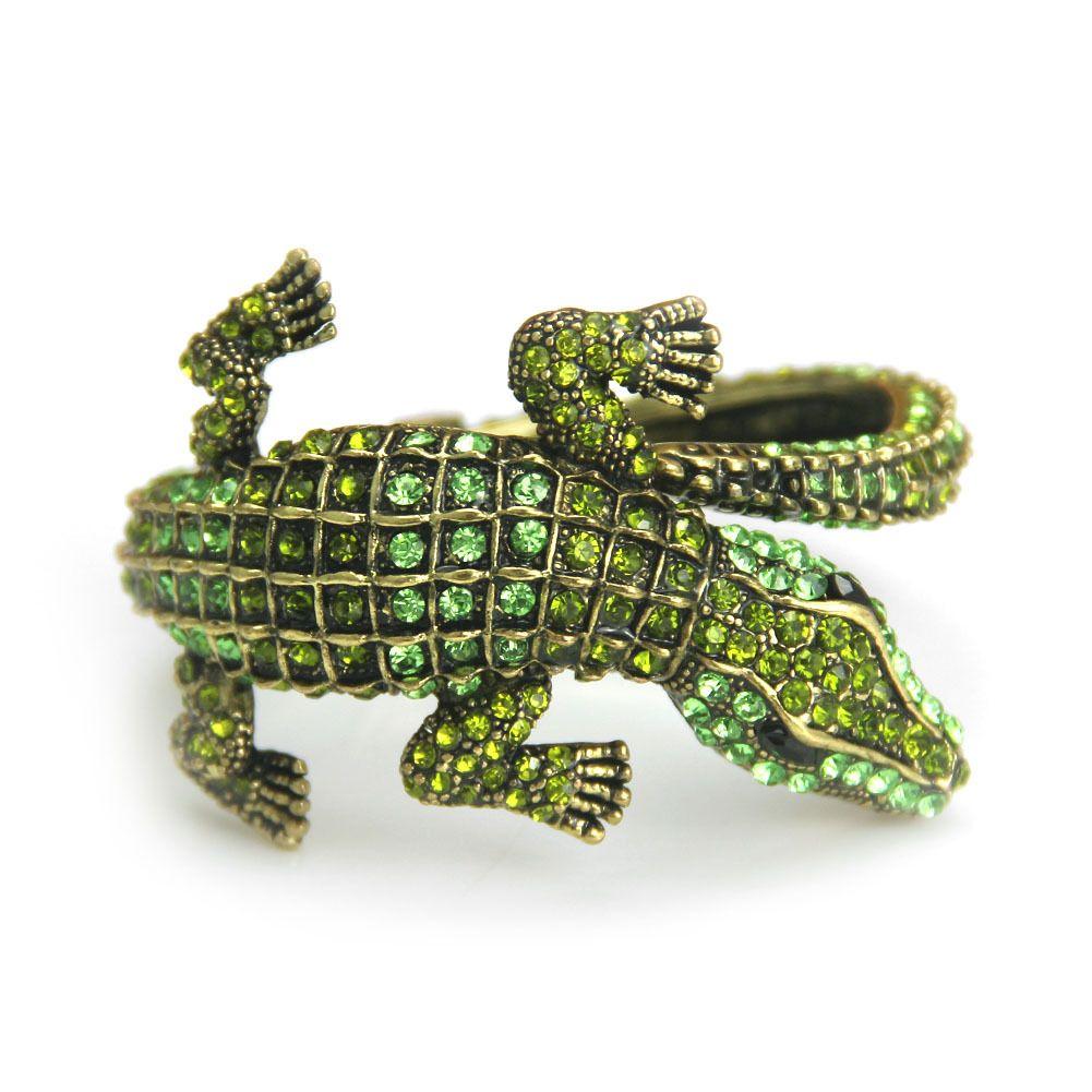 Трансграничный браслет, европейские и американские антикварные ювелирные изделия, мода качество, сплав, Алмаз крокодил леди браслет оптом