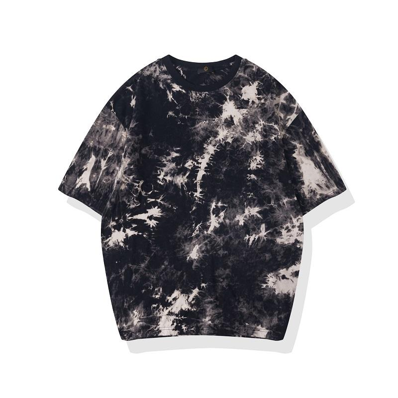 QoolXCWear 2020 Erkek / Bayan Gotik Tee Gömlek Streetwear Hip Hop Kaya Kısa Kollu Batik Tshirts Hipster Tops