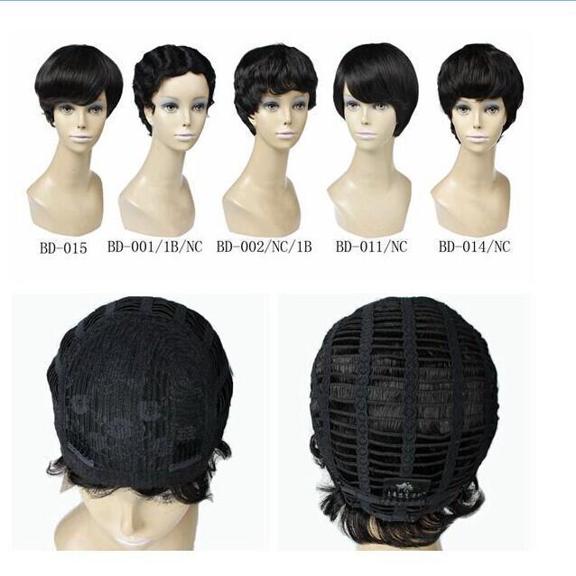 Cheveux Real brésilien perruque nouvelle arrivée en noir et couleur 2 33 perruque courte XBL Fedex Livraison gratuite