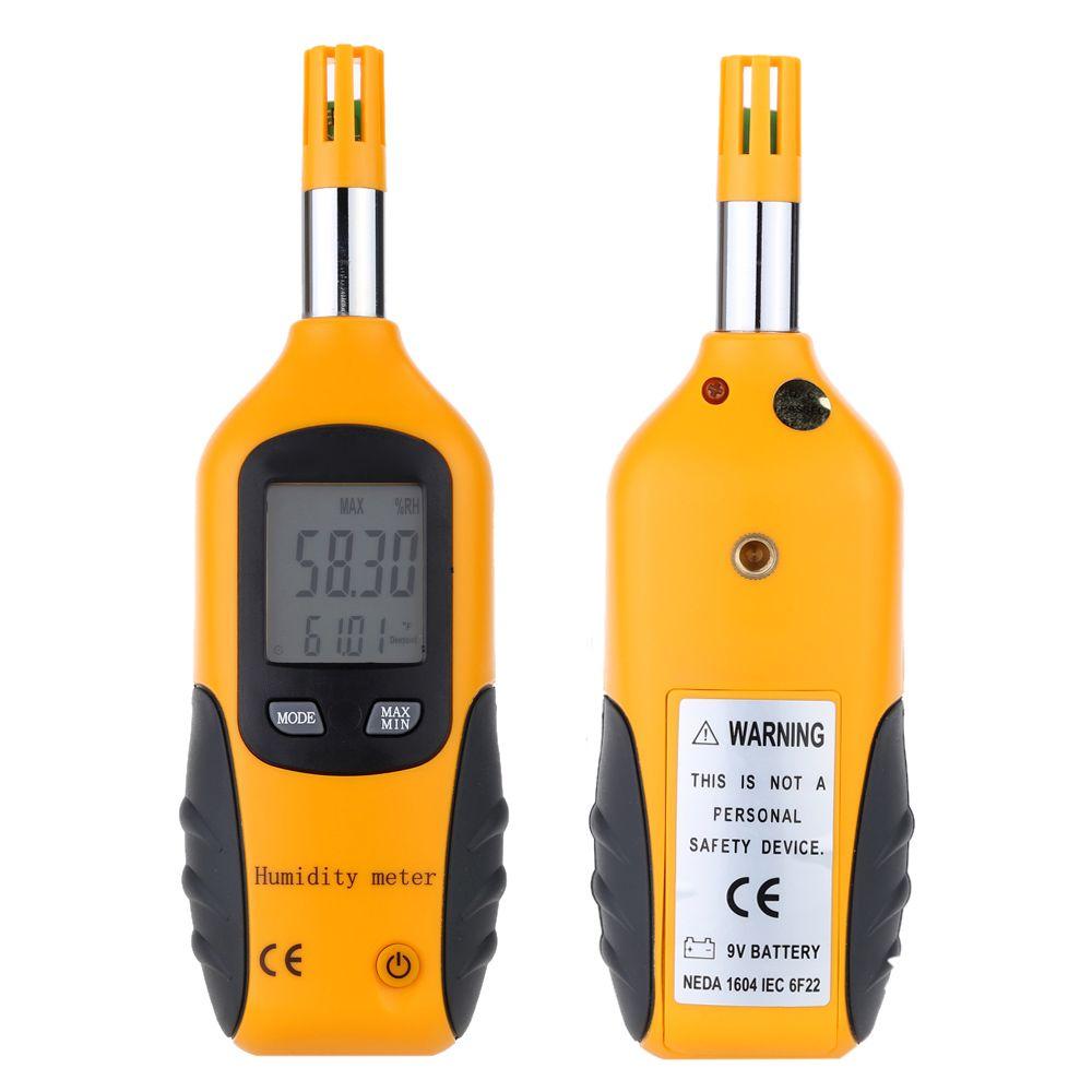 Vendita calda LCD Termometro Digitale Igrometro Handhold Misuratore di Temperatura Tester di Umidità Wet Lampadina / Punto di Rugiada Rilevatore di Temperatura-20-80C libero