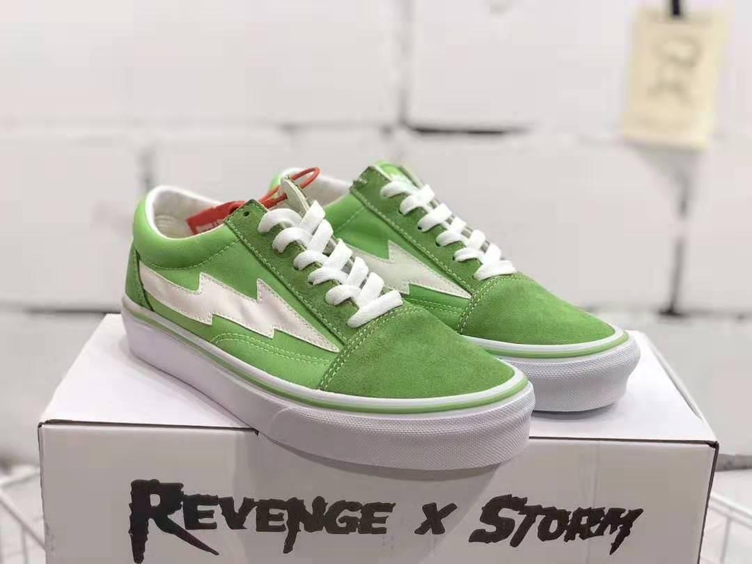 Os mais recentes Camo Revenge X tempestade skool velho clássico Preto Azul Branco homens luz verde vermelhos e mulheres calçados casuais tênis sapato Casual 36-44