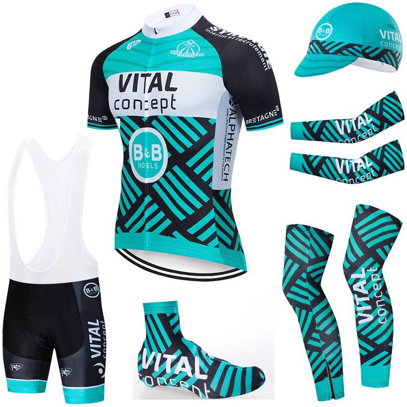 6PCS ensemble complet ÉQUIPE 2020 Concept vital jersey cycliste 20D short vélo Set Ropa Ciclismo été sec rapide pro vêtements de BICYCLETTE Maillot