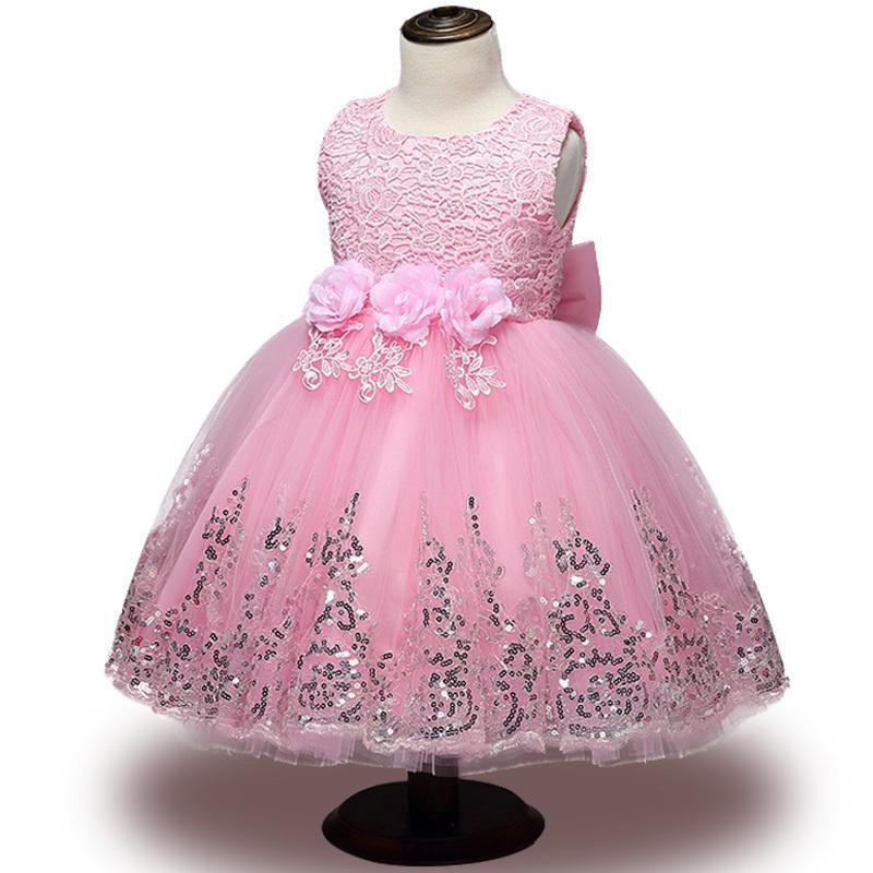 레이스 소녀 여름 옷 신생아 아기 드레스 키즈 파티를 착용 공주님 의상 소녀 투투 유아 1-2 년 생일 드레스 Y19061101