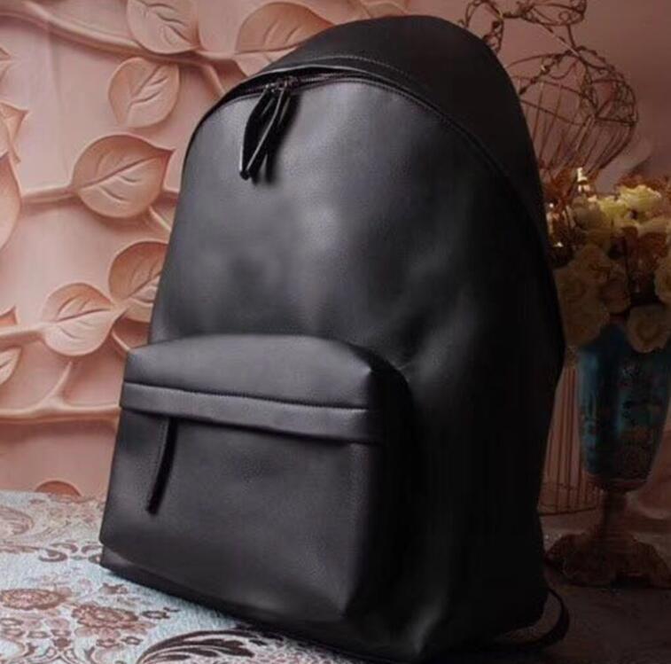 Harf Yüksek Kalite Sıcak Varış Moda Stil Kayış Rahat Geniş ile 2020 adam Sırt Deri Seyahat çantası Siyah