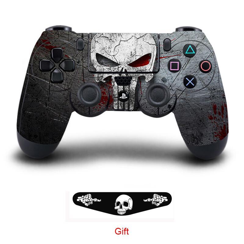 Oyun Cilt Vinil Decal Sticker için Sony Playstation 4 Kontrolör Koruyucu Cilt Kapak İçin PS4 Controle Gamepad Aksesuar