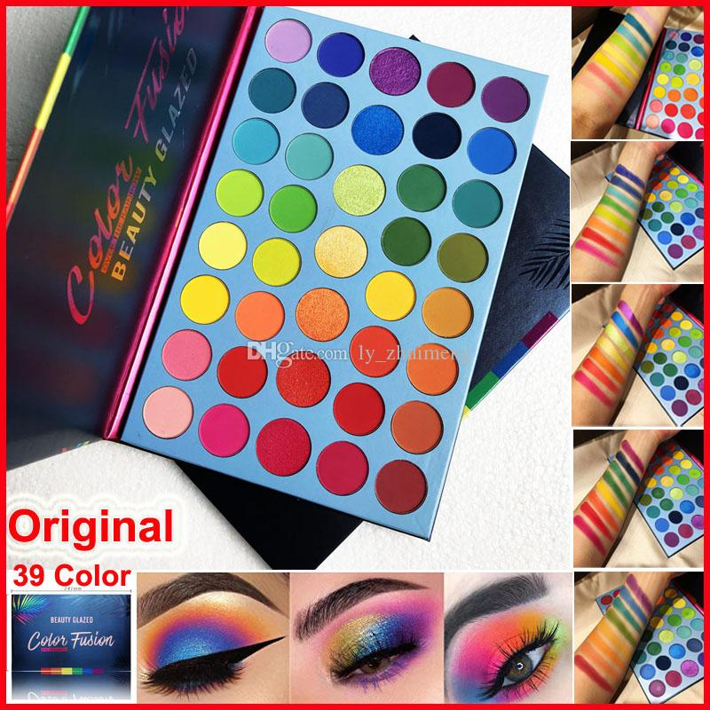Beauty Glazed Eyeshadow Palette New 39 Colors Eye Shadow Color Fusion Rainbow palette Matte Shimmer makeup eyeshadow Face Highlighter Hot