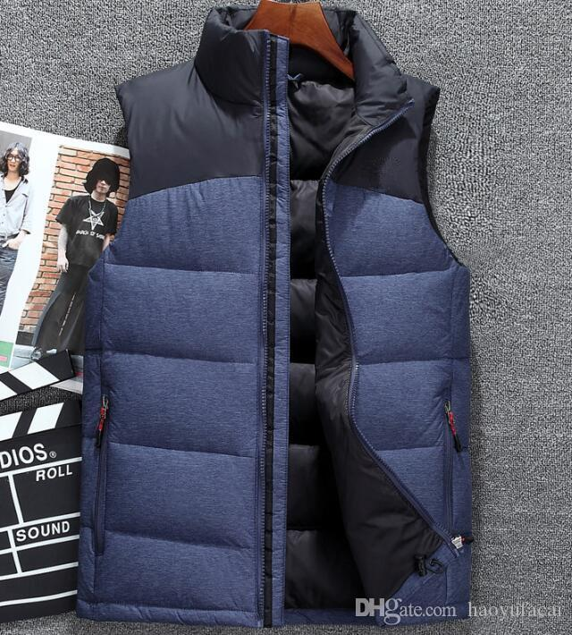 2019 hiver Classique Marque Les Hommes Porter Épais Hiver En Plein Air Manteaux Lourds Down Vest Vestes Vêtements 8908
