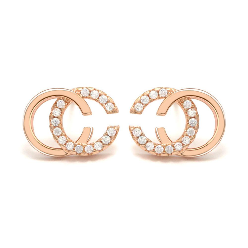 2019 Marque Designer Wholesale Double Lettres Boucles d'oreille Goujons ton or boucles d'oreilles pour les femmes Hommes fête de mariage Bijoux cadeau