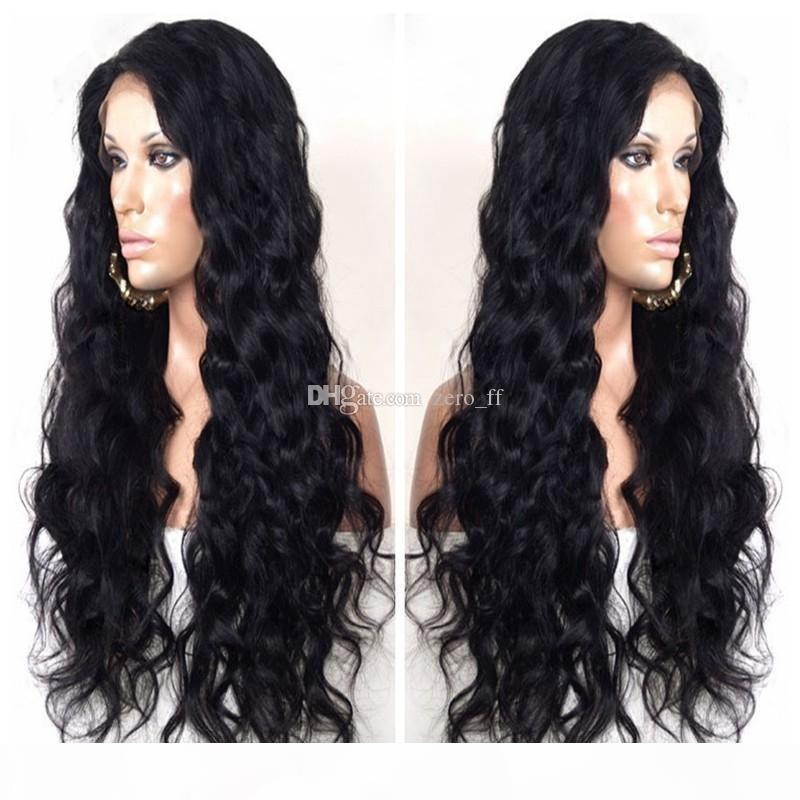 Superiore di seta vergine piena del merletto anteriore parrucche dei capelli umani Glueless peruviano parrucca piena del merletto del Virgin dei capelli umani non trattati superiore di seta dell'onda del corpo di parrucche