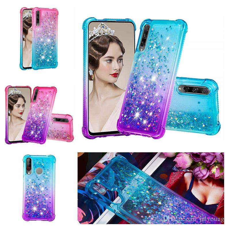 Shockproof Quicksand Soft TPU Case For Samsung A10s A20S M30s For LG Stylo 5 4 Gradient Bling Liquid Phone Skin Cover