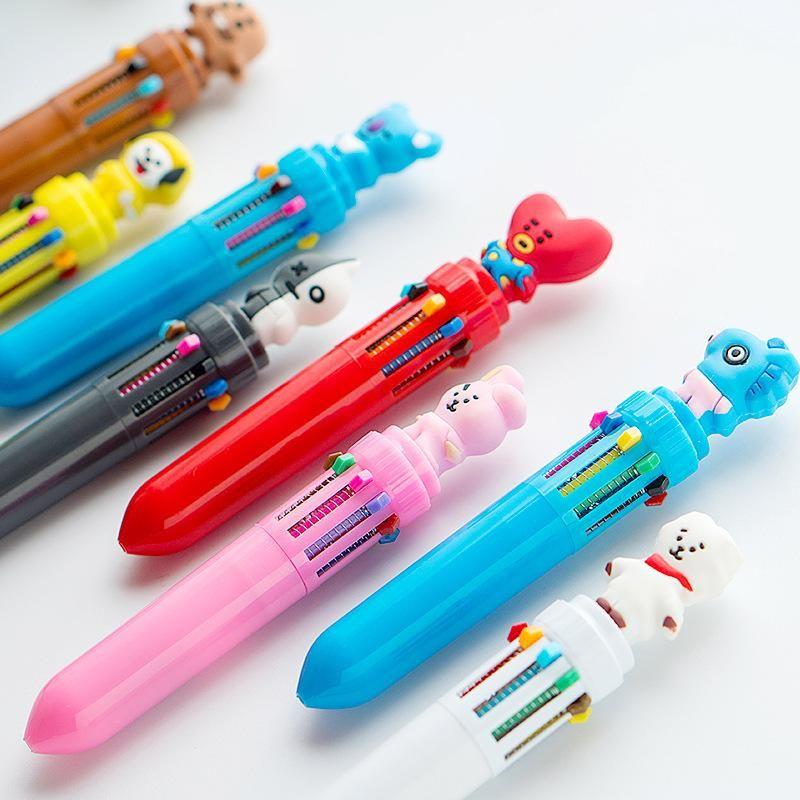 Kawaii Cartoon Colored Ballpoint Pens Gel Pen School Office Supplies Xmas Gifts