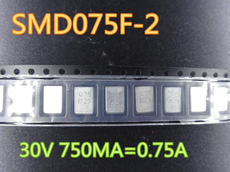 50PCS / lot جديد فيوز SMD075F-2 30V 750MA = 0.75A في سوق الأسهم شحن مجاني