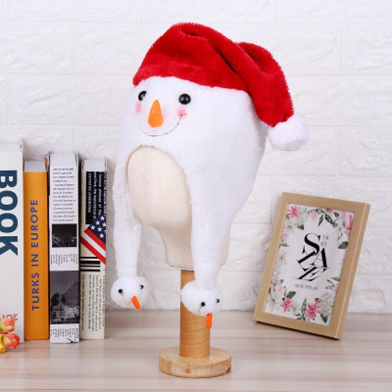 2019 Mini Christmas Hat Fluffy Santa Claus Hat Xmas Decor Cute snowman Christmas gift Adult Kids for Party Decoration