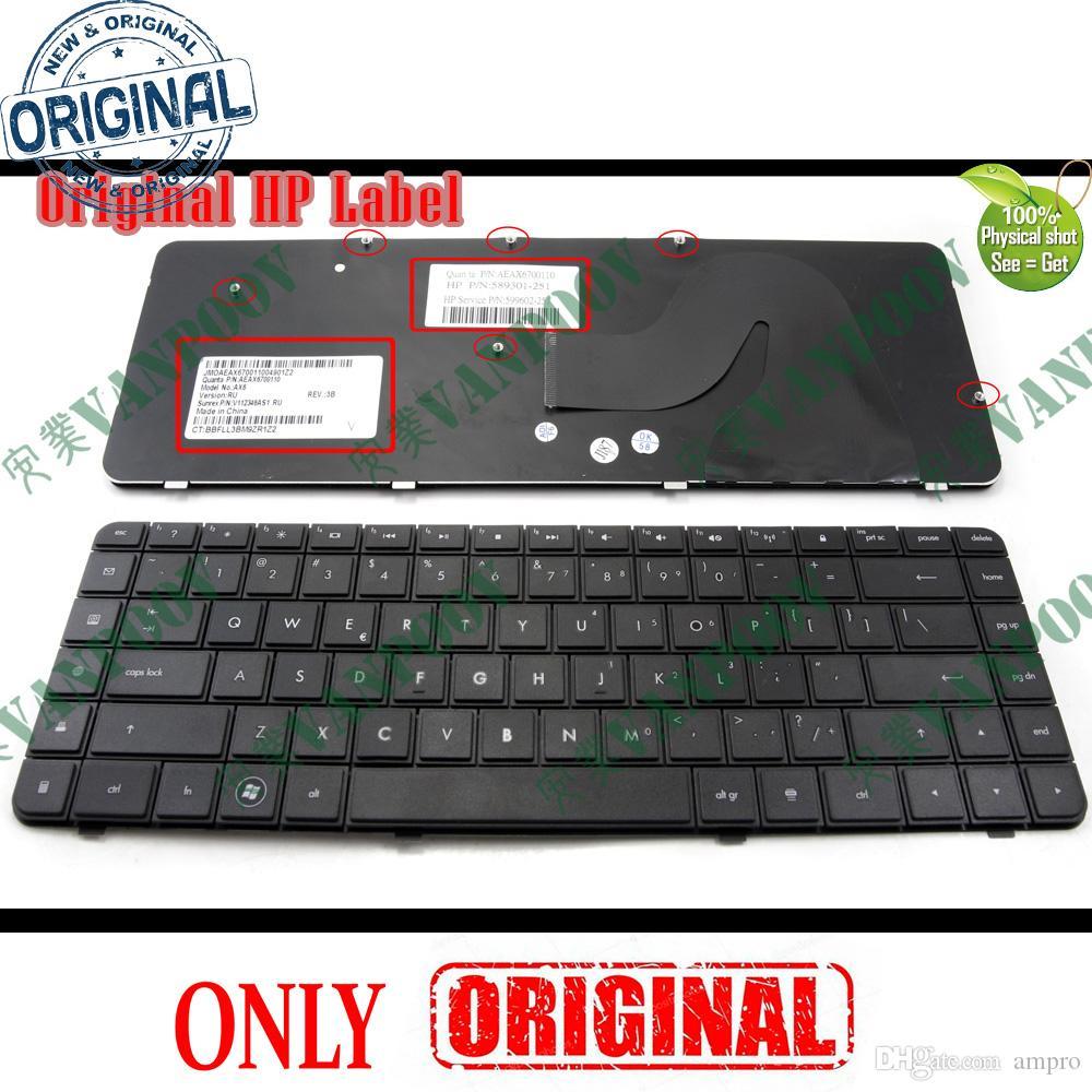 Nytt Original Notebook Keyboard / Laptop Tangentbord för HP Compaq Presario CQ62 G62 Svart US Version - 9Z.N4SSQ.001