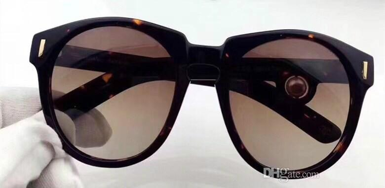 5283 Luxury Fashion Sunglass Women Deisnger UV Protection Lens Big Frame Bowknot Summer Style Full Frame Big Face Come Withe Case