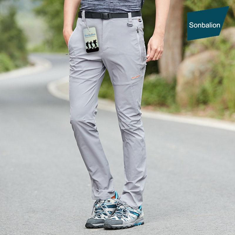 Pantalones al aire libre 2021 luz de verano Senderos de secado rápido Pantalones de escalada, Pantalones de pesca de protección UV para acampar transpirables, Hombres impermeables