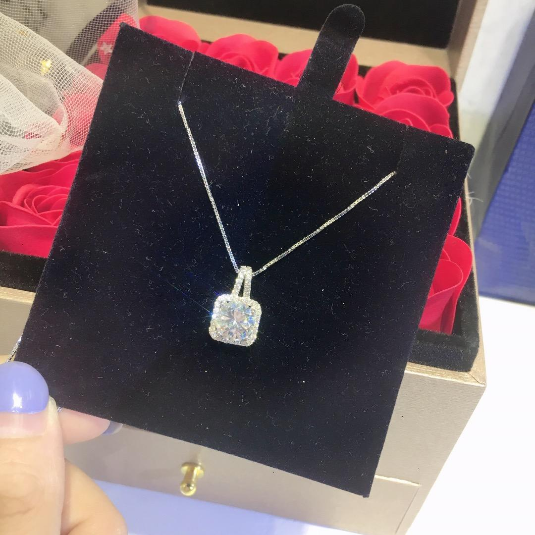 colares de pedras preciosas Mulheres solteiras Mulheres charme jóias temperamento de prata esterlina material de menina de moda